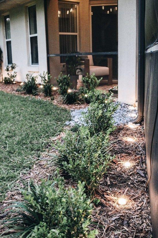 Lighting Our Outdoor Patio For Spring And Summer Landscape Design Landscape Lighting Garden Landscape Design