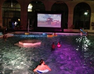 Inflatable Pool Ideas Movie Nights
