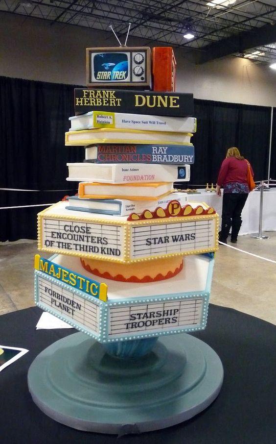 Sci Fi Film & Book Cake