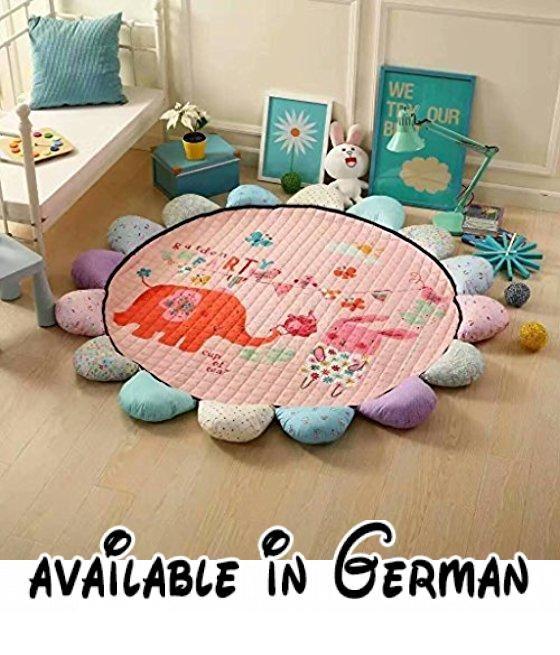 Wohnzimmer Teppich Blumenmatten Baumwolle Baby Crawling Pad Spiel - teppich wohnzimmer grose