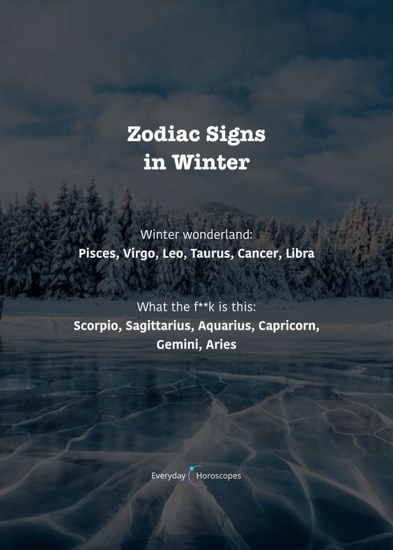 What the signs think about winter. Do you like winter? #dailyhoroscope #todayhoroscope #horoscope #zodiacsigns #winter