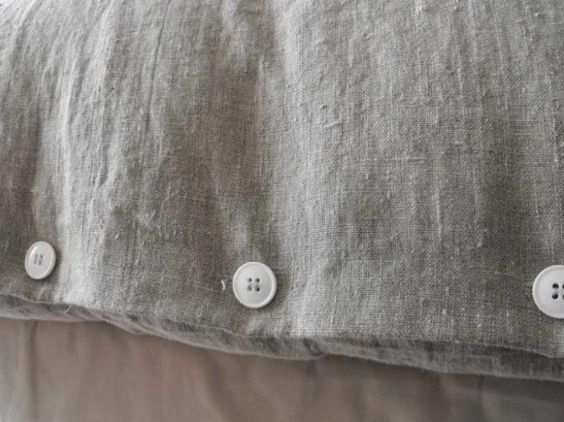 Rough Luxe Natural Linen Duvet Cover