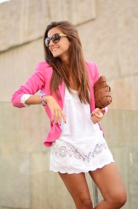 shocking pink + sweet white.
