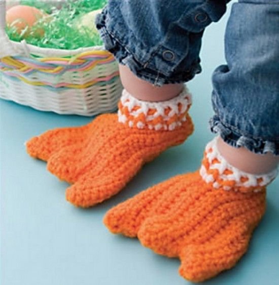 Amigurumi Bird Feet : Knitted Duck Booties Pattern Is Free And Super Cute Free ...