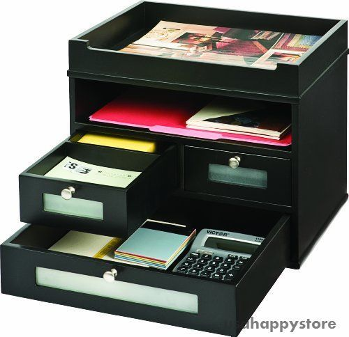 Details about desktop organizer drawers desk storage tray - Desk organizer sorter ...