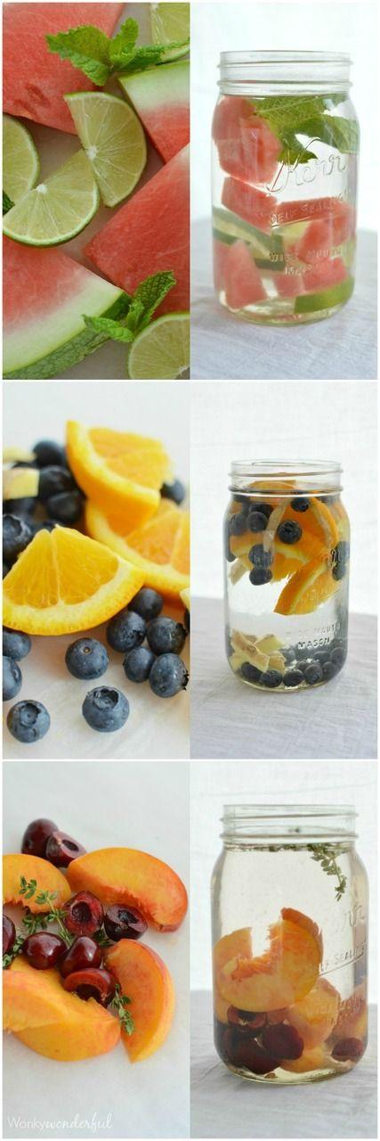 Este es agua con frutas. Es creativo y delicioso.