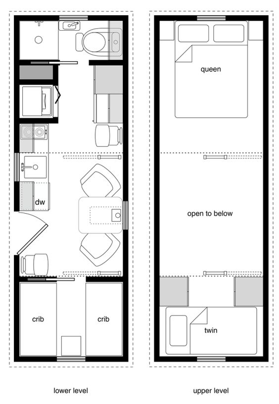 Foot Long Tiny House Design For A Family Complete With Two Plans 3 Bedroom  Interior
