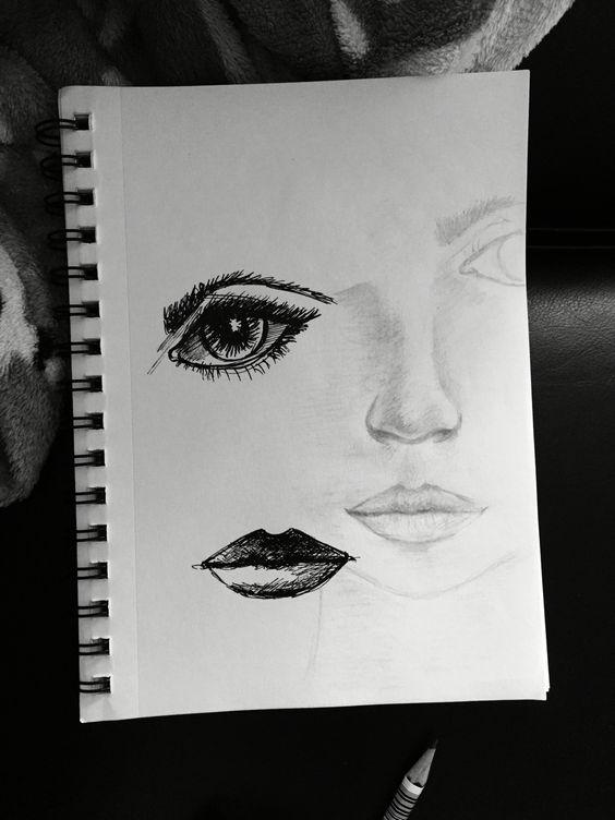 Practicing facial features