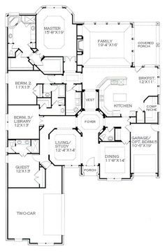 Ranch House Plans Without A Dining Room. Ranch. Home Plan And ...