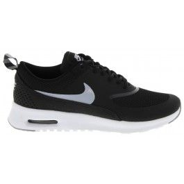 WOMENS BLACK & WHITE AIR MAX THEA SNEAKERS by NIKE