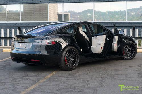 Black Tesla Model S Bentley Linen Interior In 2021 Tesla Model S Tesla Model S Black Tesla Model
