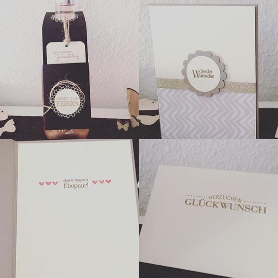 Mal wieder ein wenig gebastelt  #bastelnmachtspass #stampinup #loveit #kreativsein #baszelnmitpapier #flaschenanhänger #karte #card #hochzeitskarte #geburtstagsgeschenk #bastelideen #weddingcard #weddingcards