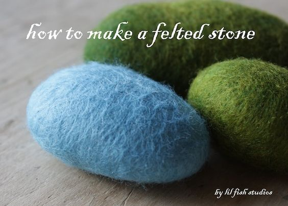 Felted stones from wool roving, definitely on my to do list!