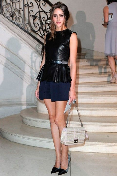 Olivia Palermo at the Dior Haute Couture autumn/winter 2012 show in Paris. Love the smokey look.