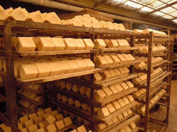 Our 300g Antique Soaps are made the old traditional way in cauldrons from pure olive oil & salt water from the Mediterranean Sea. It is the most famous and only true Savon de Marseille soap. Pictured here drying on racks the final stage of the making process. http://frenchsoaps.com.au/SAVON-DE-MARSEILLE-FRENCH-SOAP.html
