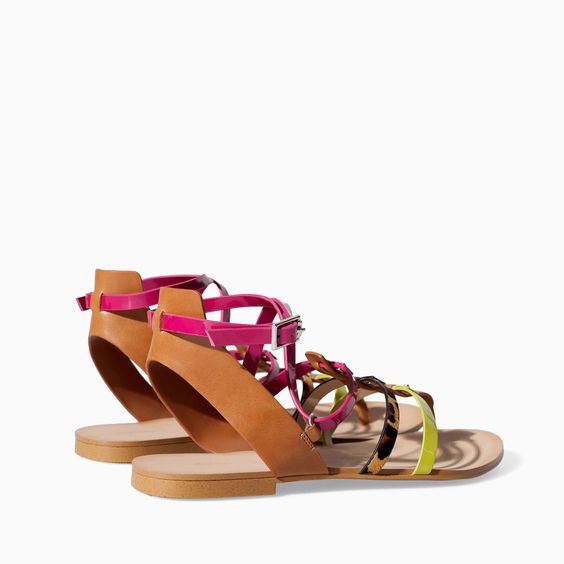 Image 3 of STRAPPY FLAT SANDAL from Zara