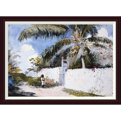 Global Gallery A Garden In Nassau by Winslow Homer Framed Painting Print Size: