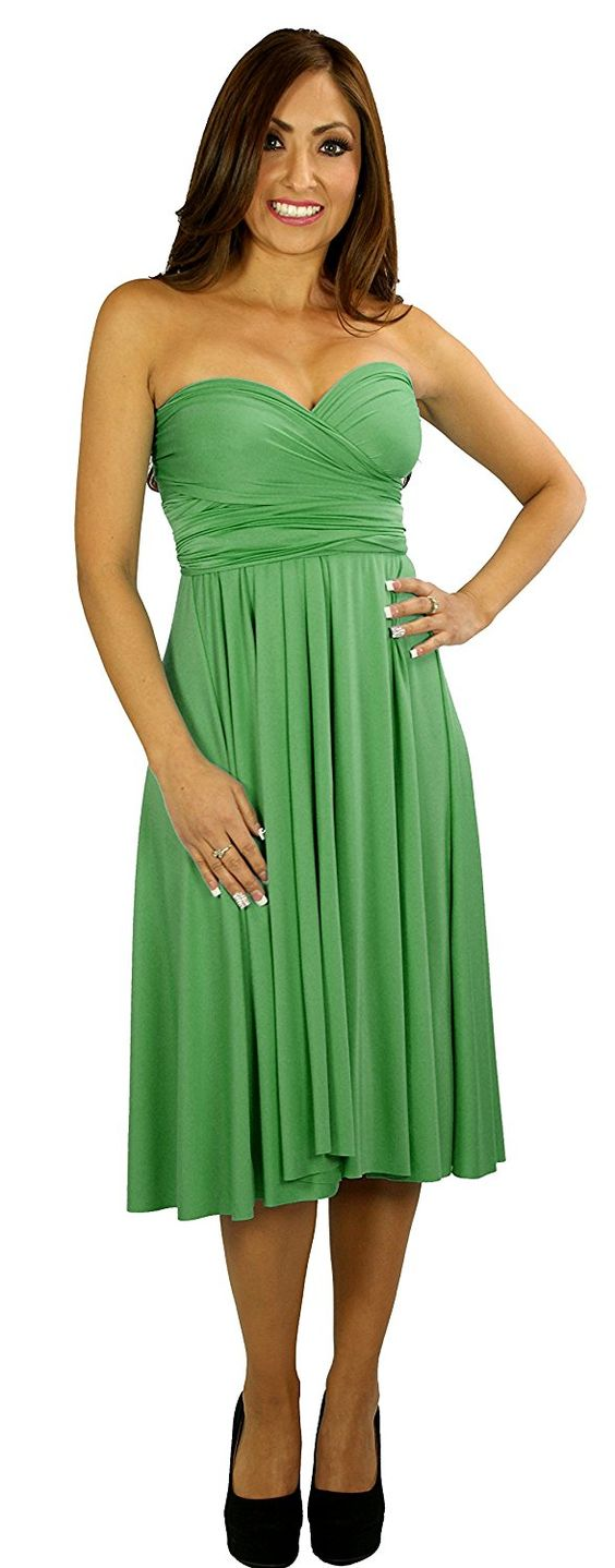 Lustic Green Wrap Magic Women's Convertible Infinity Dress >>> Unbelievable  item right here! : Bridesmaid Dresses