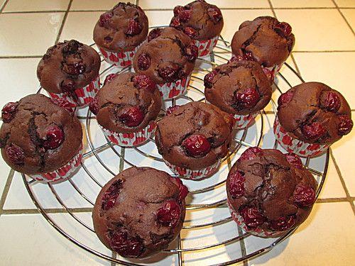 Schoko - Kirsch - Muffins (Rezept mit Bild) von anuschi   Chefkoch.de