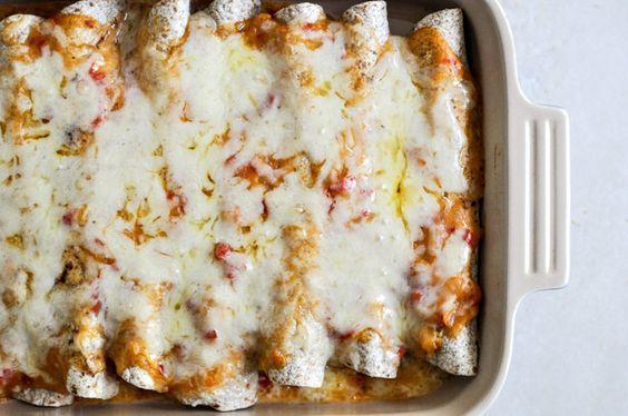 lightened up chicken enchiladas