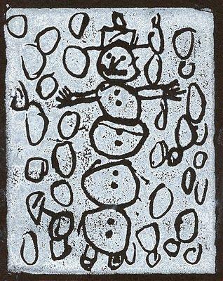 Kindergarten - snow foam prints