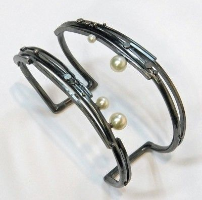 Sydney Lynch Twig Cuff with Pearls available at www.poppyarts.com!  $415  #sydneylynch #poppymadebyhand