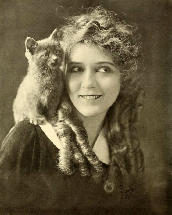 Mary Pickford and a cat   I remember   Pinterest   Cats ...