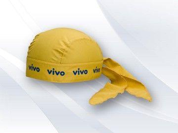 Bandana Personalizada VC1503, modelo motoqueiro, tecido microfibra, regulador tipo laço, impressão silkada.