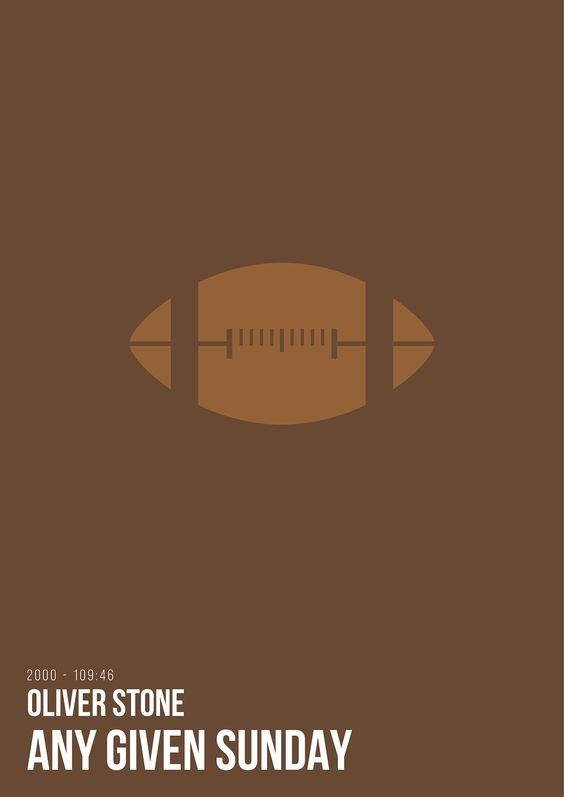 Any Given Sunday (2000) ~ Minimal Movie Poster by Renato Sabato #amusementphile