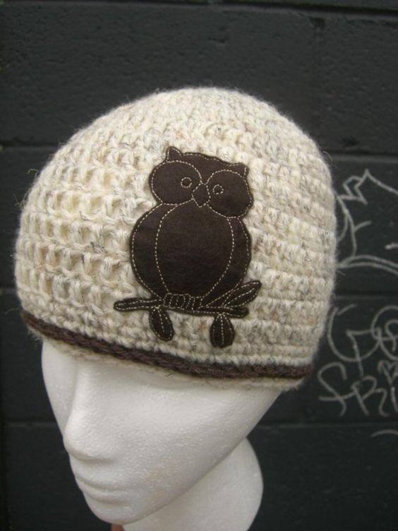 NewWheat and Brown Owl Hat by dahliasoleil on Etsy