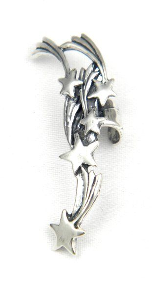 Sterling Silver Comet Shooting Stars Ear Cuff a Marty Magic Creation - This stunning shooting star ear cuff is the perfect accessory for summer.  It is reminiscent of warm nights watching shooting stars or fireworks in the park.  $72.00