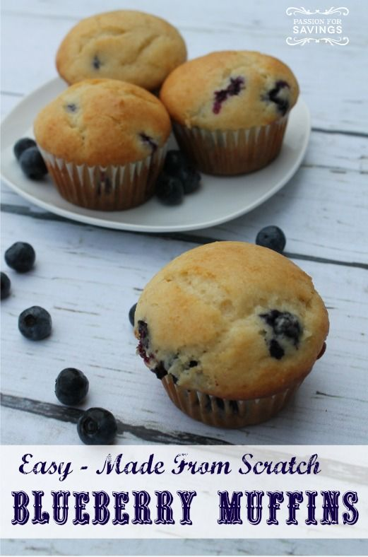 recipe: homemade blueberry muffins from scratch [32]