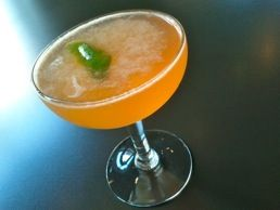 Pigou Club:  Giun, Crème de Pamplemousse Rose , Lime & Bitters