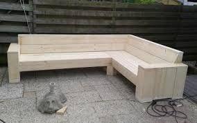 Resultado de imagen de tuinbank steigerhout maken