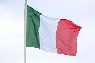 italienische Flagge, Fahne, G7, G8, Italien
