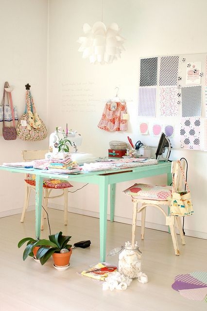 Cutting, ironing and sewing by jasna.janekovic, via Flickr