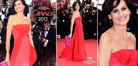 #Look #MakeUp #Cannes #Madame Inés de la Fressange