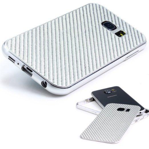 Echt Carbon Aluminium Schutz Hülle für das Samsung Galaxy S7 Edge Original UrCover® [DEUTSCHER FACHHANDEL] Case Cover Bumper Alu Rahmen Tasche Schutzhülle Silber/Silber 49,90€