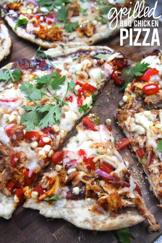 ... and more pizza bbq chicken grilled bbq chicken chicken pizza chicken