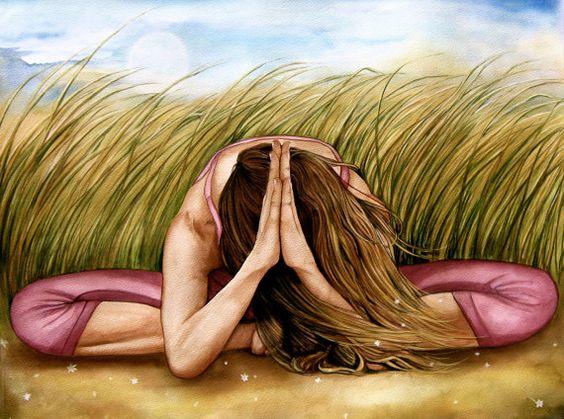 Namaste Yoga Meditation Dekor Kunstdruck von claudiatremblay