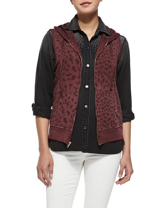 The Sleeveless Leopard-Print Hoodie