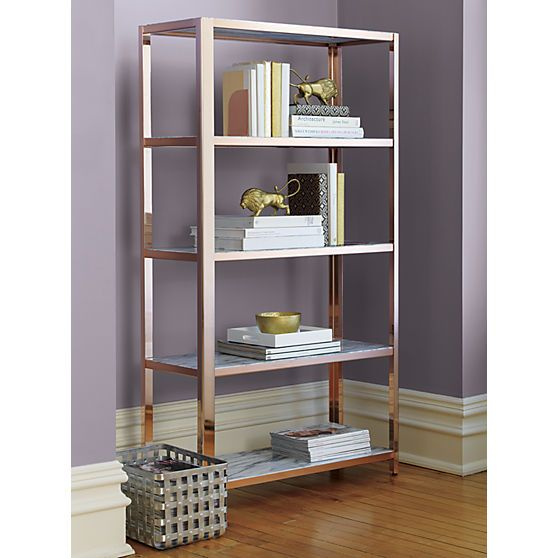 Marbles Bookcases and Rose gold on Pinterest