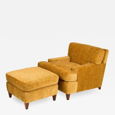 William Billy Haines Seniah Club Chair and Ottoman by Billy Haines