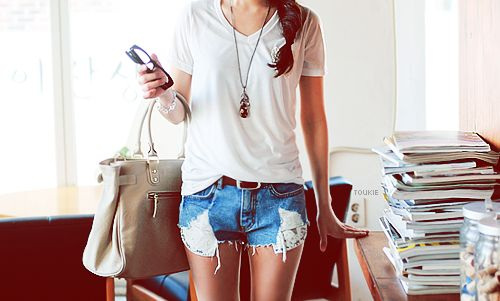 White shirt and short
