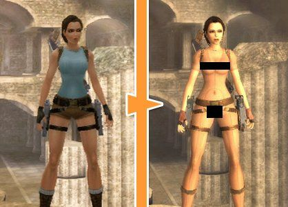 Naked girls in videogames