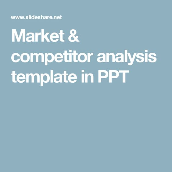 Market \ competitor analysis template in PPT Methodology - marketing competitor analysis template