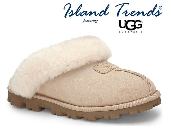 Slip into warmth with the UGG Coquette Slippers in Sand & Black -at Island Trends: http://www.islandtrends.com/ugg-slippers-1893 #uggslippers #ugg #islandtrends #uggcoquetteslippers: Uggslippers Ugg, 1893 Uggslippers, Ugg Islandtrends