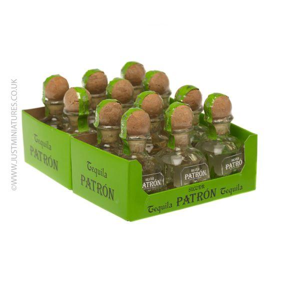 miniature patron tequila   Patron Silver Tequila Miniature - 12 Pack   Just Miniatures