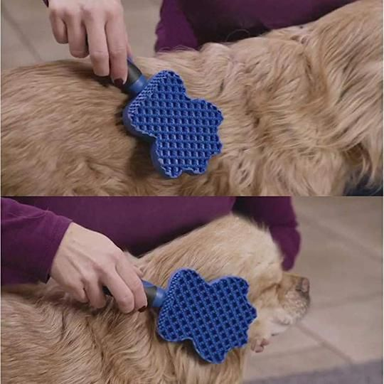 Groom Glider Pet Sticky Hair Brush Cat Dog Hair Remover Comb ...