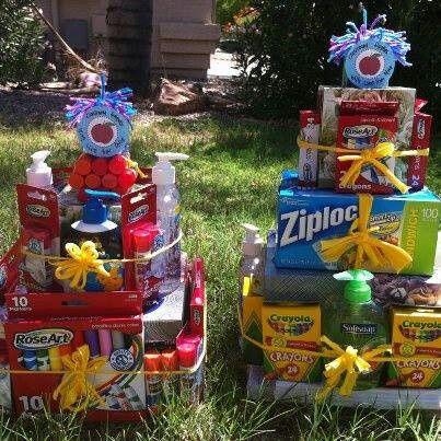 Despedida ideias cesta and ideias para cestas de presentes on back to school gift basket ideas college going away gifts could also be negle Choice Image